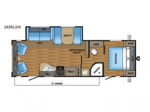 Jay Flight SLX 265RLSW Floorplan Image