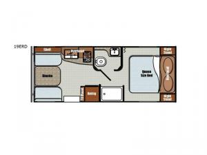 Vintage Friendship 19ERD Floorplan Image