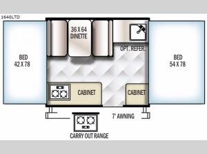 Rockwood Freedom Series 1640LTD Floorplan Image