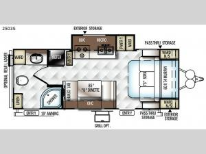 Rockwood Mini Lite 2503S Floorplan Image
