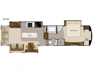 Elite Suites 38 PS3 Floorplan Image