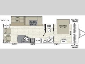Freedom Express 297RLDS Floorplan Image