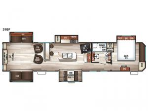 Cherokee Destination Trailers 39BF Floorplan Image