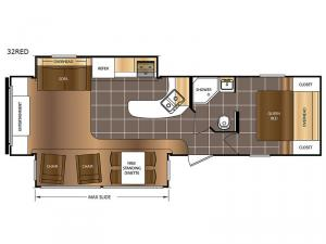 Avenger 32RED Floorplan Image