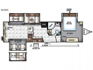 Rockwood Signature Ultra Lite 8325SS Floorplan Image