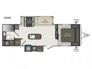 Laredo 280RB Floorplan Image