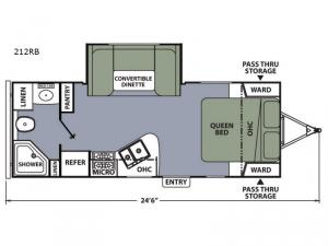 Apex Ultra-Lite 212RB Floorplan Image