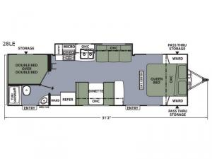 Apex Ultra-Lite 28LE Floorplan Image