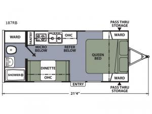 Apex Nano 187RB Floorplan Image