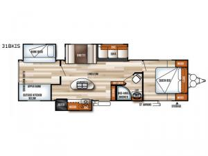 Salem 31BKIS Floorplan Image