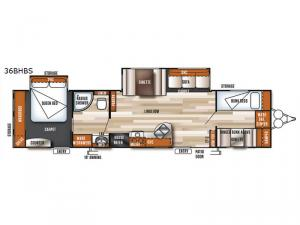 Salem 36BHBS Floorplan Image