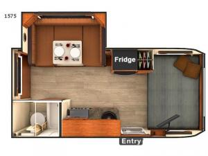 Lance Travel Trailers 1575 Floorplan Image
