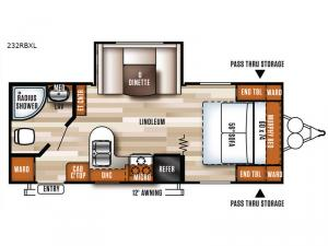 Salem Cruise Lite 232RBXL Floorplan Image