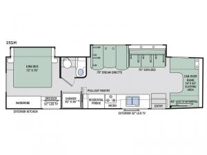 Four Winds Super C 35SM Floorplan Image