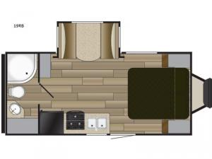 Fun Finder XTREME LITE 19RB Floorplan Image