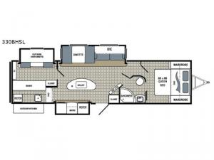 Kodiak Ultimate 330BHSL Floorplan Image