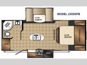 SolAire Ultra Lite 220DSFB Floorplan Image
