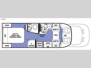 Sunseeker 2390 Ford Floorplan Image