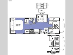 Sunseeker 2650S Ford Floorplan Image