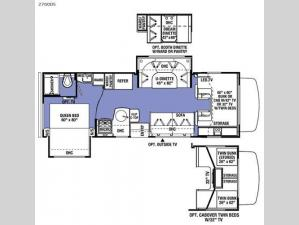 Sunseeker 2700DS Ford Floorplan Image