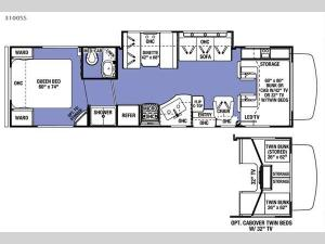 Sunseeker 3100SS Ford Floorplan Image