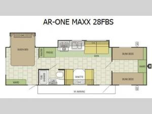 AR-ONE MAXX 28FBS Floorplan Image