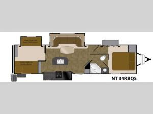 North Trail 34RBQS King Floorplan Image