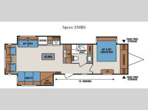 Spree 320BS Floorplan Image