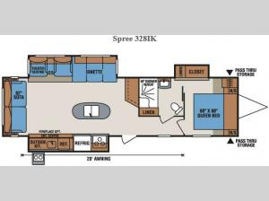 Spree 328IK Floorplan Image
