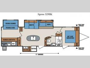 Spree 329IK Floorplan Image