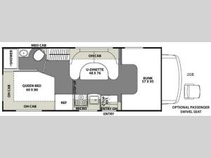 Freelander 21QB  Chevy 4500 Floorplan Image