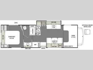 Freelander 29KS Ford 450 Floorplan Image
