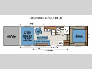 Sportsmen Sportster 265TH Floorplan Image
