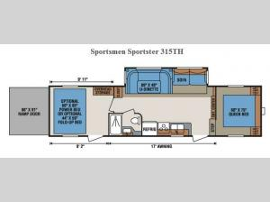 Sportsmen Sportster 315TH Floorplan Image