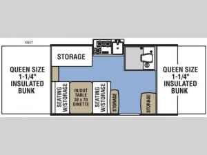 Clipper Camping Trailers 105ST Sport Floorplan Image