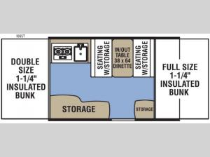 Clipper Camping Trailers 106ST Sport Floorplan Image
