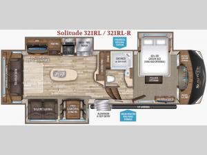 Solitude 321RL R Floorplan Image