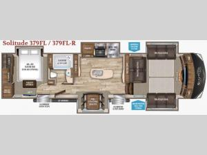 Solitude 379FL R Floorplan Image