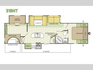 Launch Ultra Lite 31BHT Floorplan Image