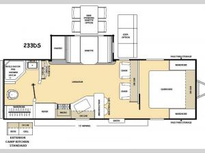 Catalina 233DS Floorplan Image