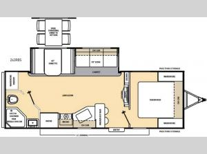 Catalina 243RBS Floorplan Image
