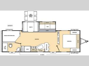 Catalina 283DDS Floorplan Image