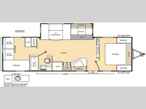 Catalina 293QBCK Floorplan Image