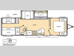 Catalina 303BHS Floorplan Image