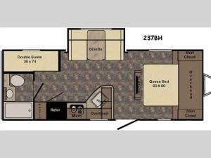 Sunset Trail Ultra Lite 237BH Floorplan Image