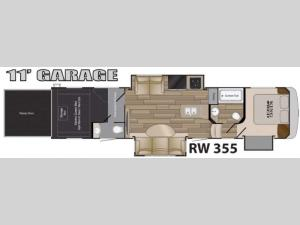 Road Warrior 355 Floorplan Image