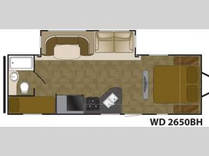 Wilderness 2650BH Floorplan Image