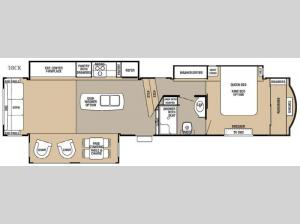 Cedar Creek Hathaway Edition 38CK Floorplan Image
