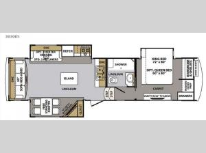 Cardinal 3030RS Floorplan Image