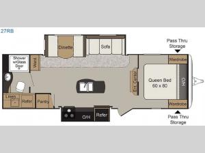 Passport 27RB Elite Floorplan Image